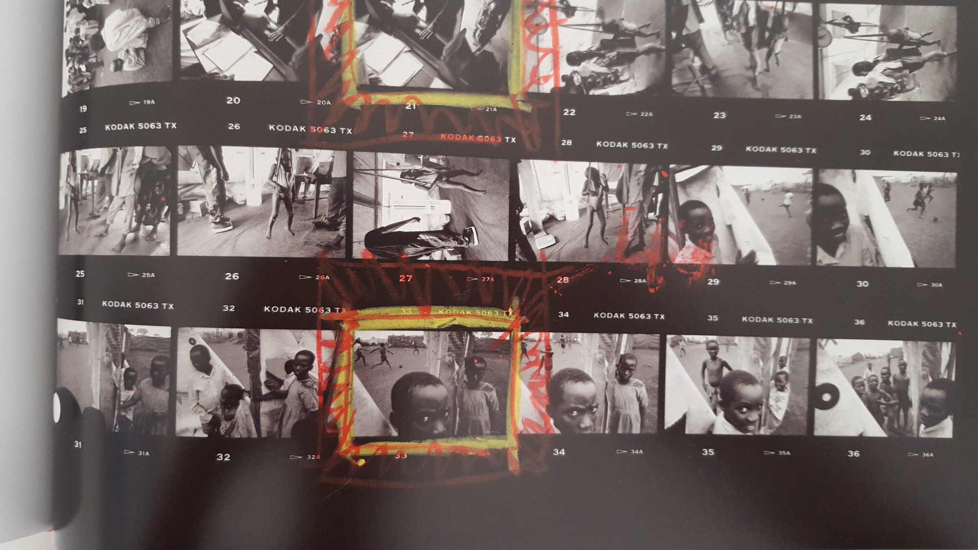 eli reed contact sheets - kids in africa3