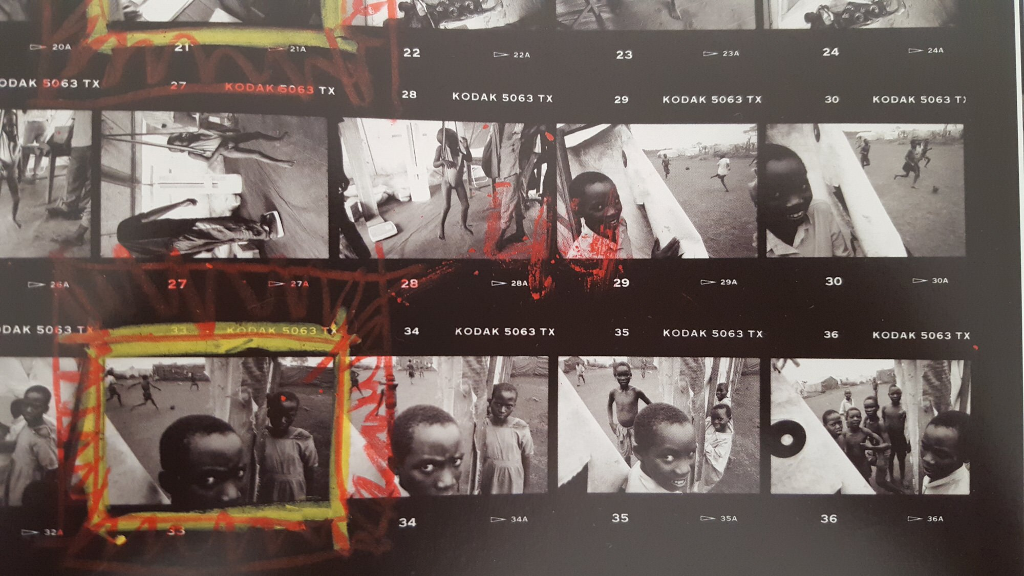 eli reed contact sheets - kids in africa4