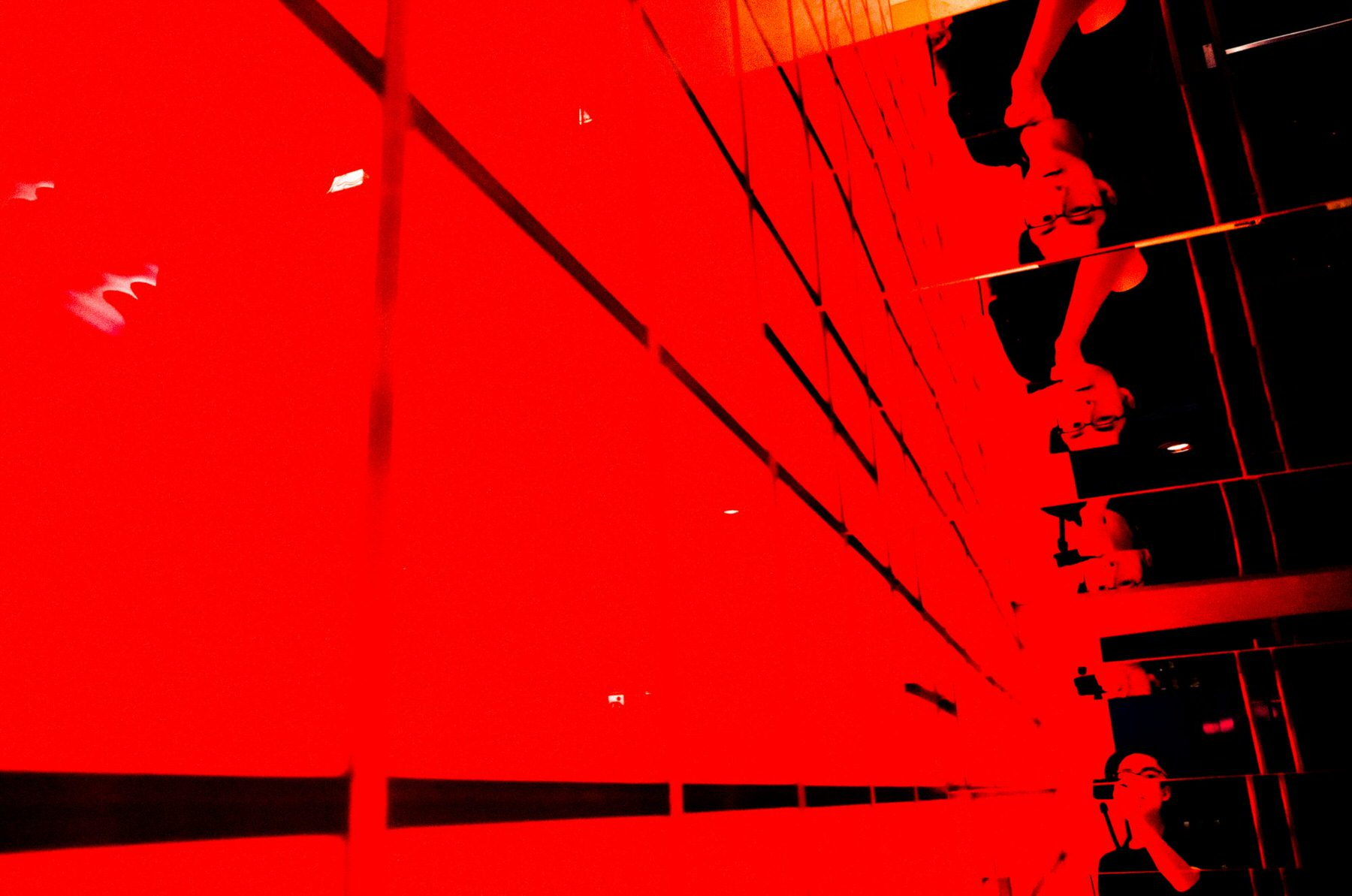 eric kim red ricoh selfie bape store reflection .jpeg