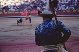 SPAIN. Madrid. 1955. Plaza de Toros. Picador and Matador.