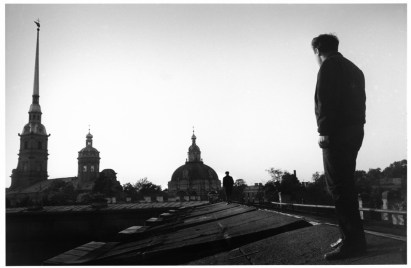 USSR. Leningrad. 1967. Poet Joseph BRODSKY on the roof of the Peter and Paul Fortress.
