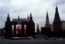 USSR. Moscow. 1988. Decoration. Red Square. ©Inge Morath/Magnum Photos