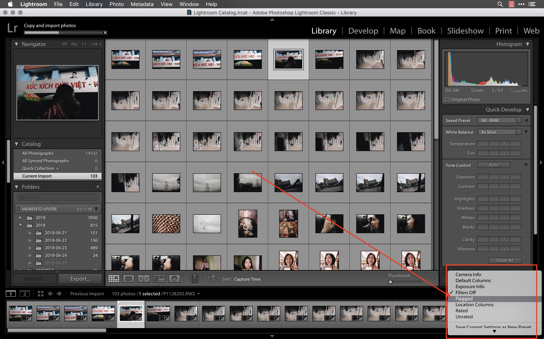 lightroom select flagged photos