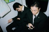 sleeping suits on train