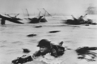 FRANCE. Normandy. Omaha Beach. The first wave of American troops lands at dawn. June 6th, 1944.