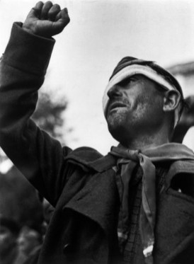 SPAIN. Les Masies. October 25th, 1938. Farewell ceremony for the International Brigades.