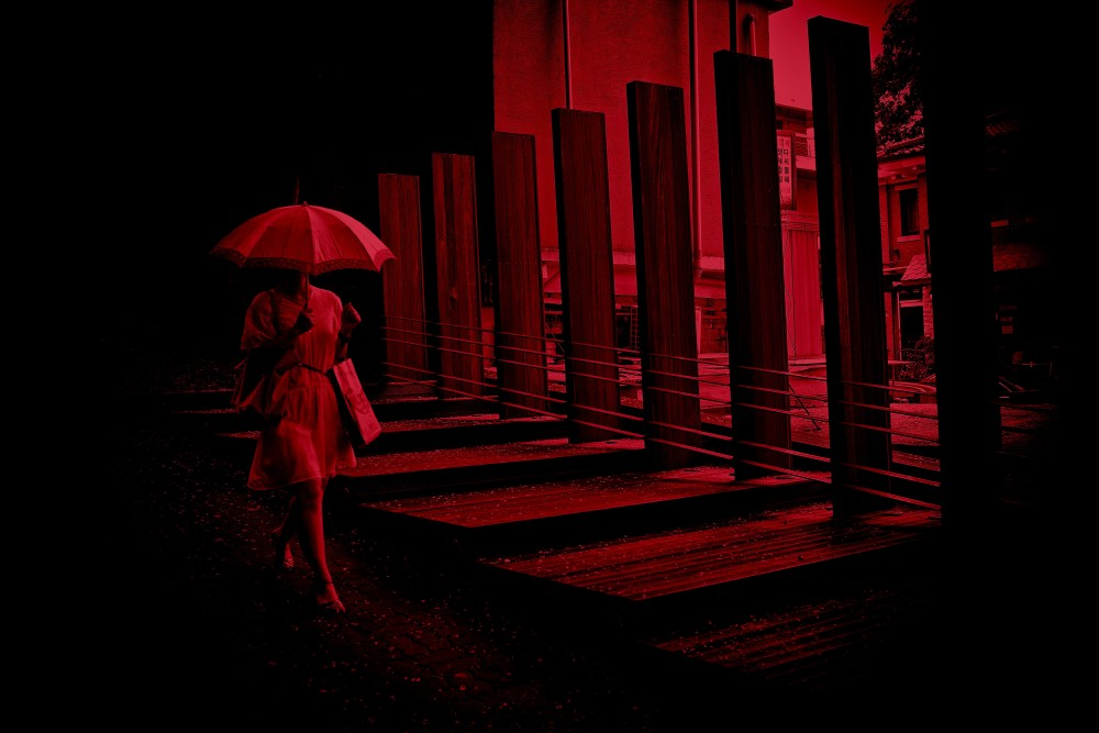 umbrella red Eric kim