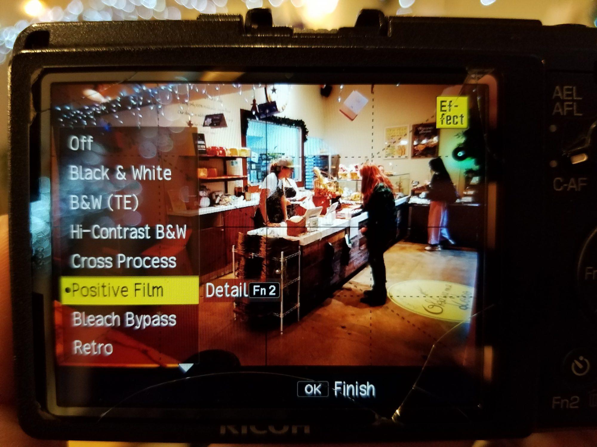 Positive film JPEG preset on RICOH GR II