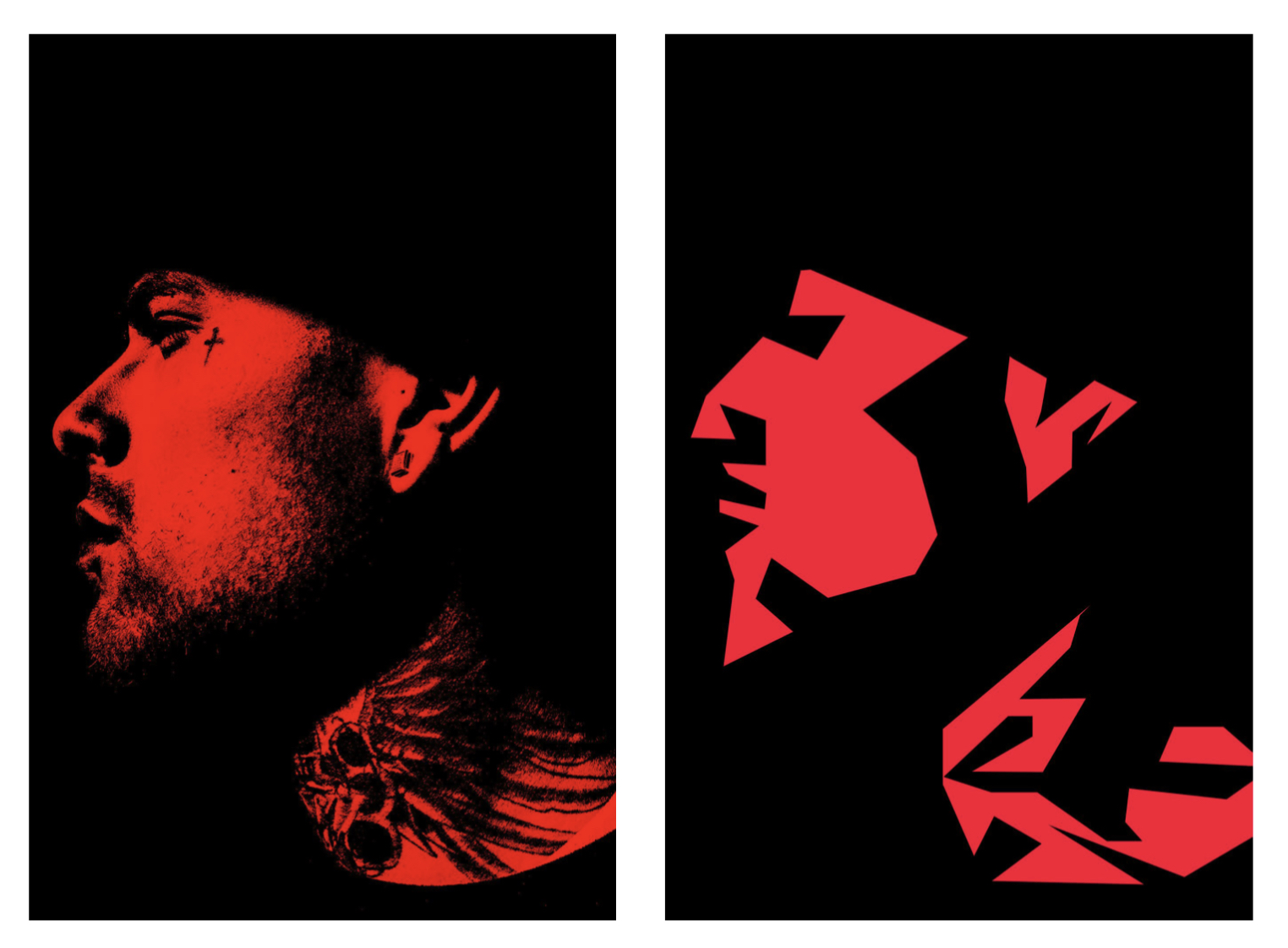 red diptych tattoo
