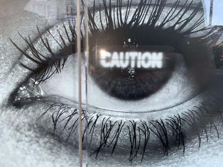 eye caution