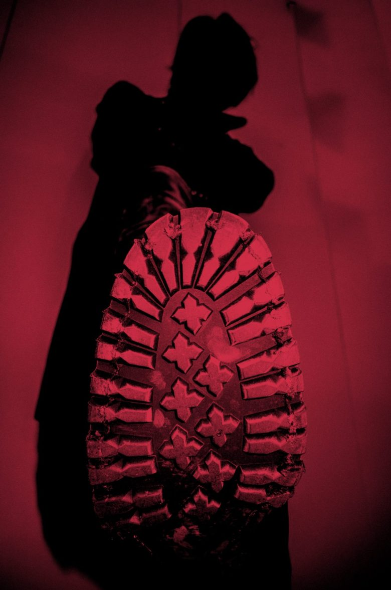red crimson foot