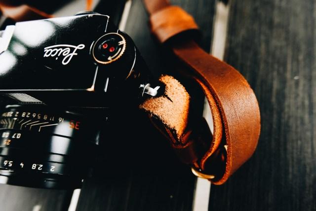 Film Leica MP x Henri Shoulder Strap (CREMA BROWN)