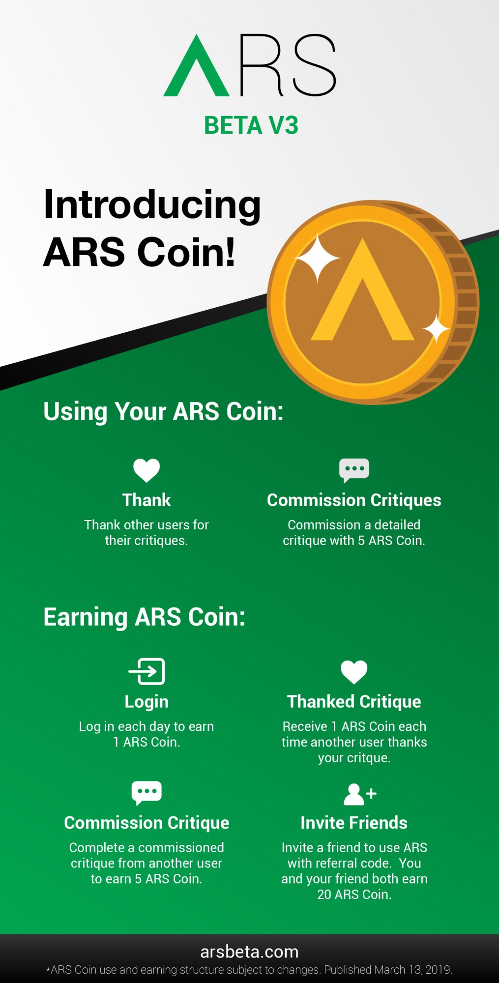 ARS Coin infographic version 3