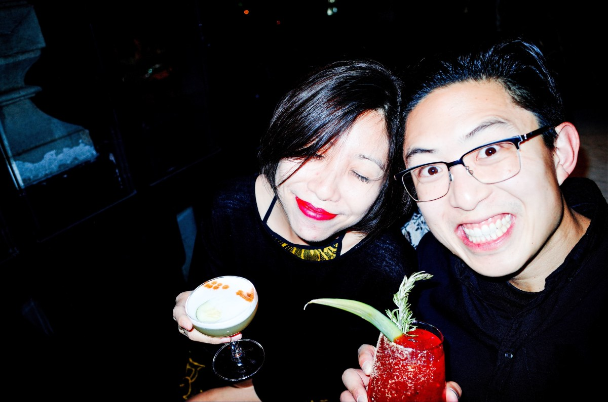 Selfie with Cindy in Mexico City (at hipster bar)