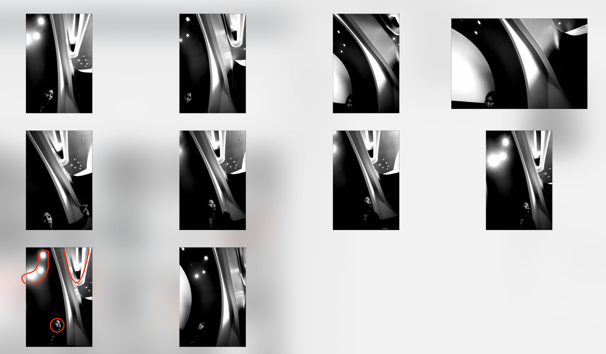Note how you can easily judge a composition as a small thumb nail quicker than seeing it all full-screen.