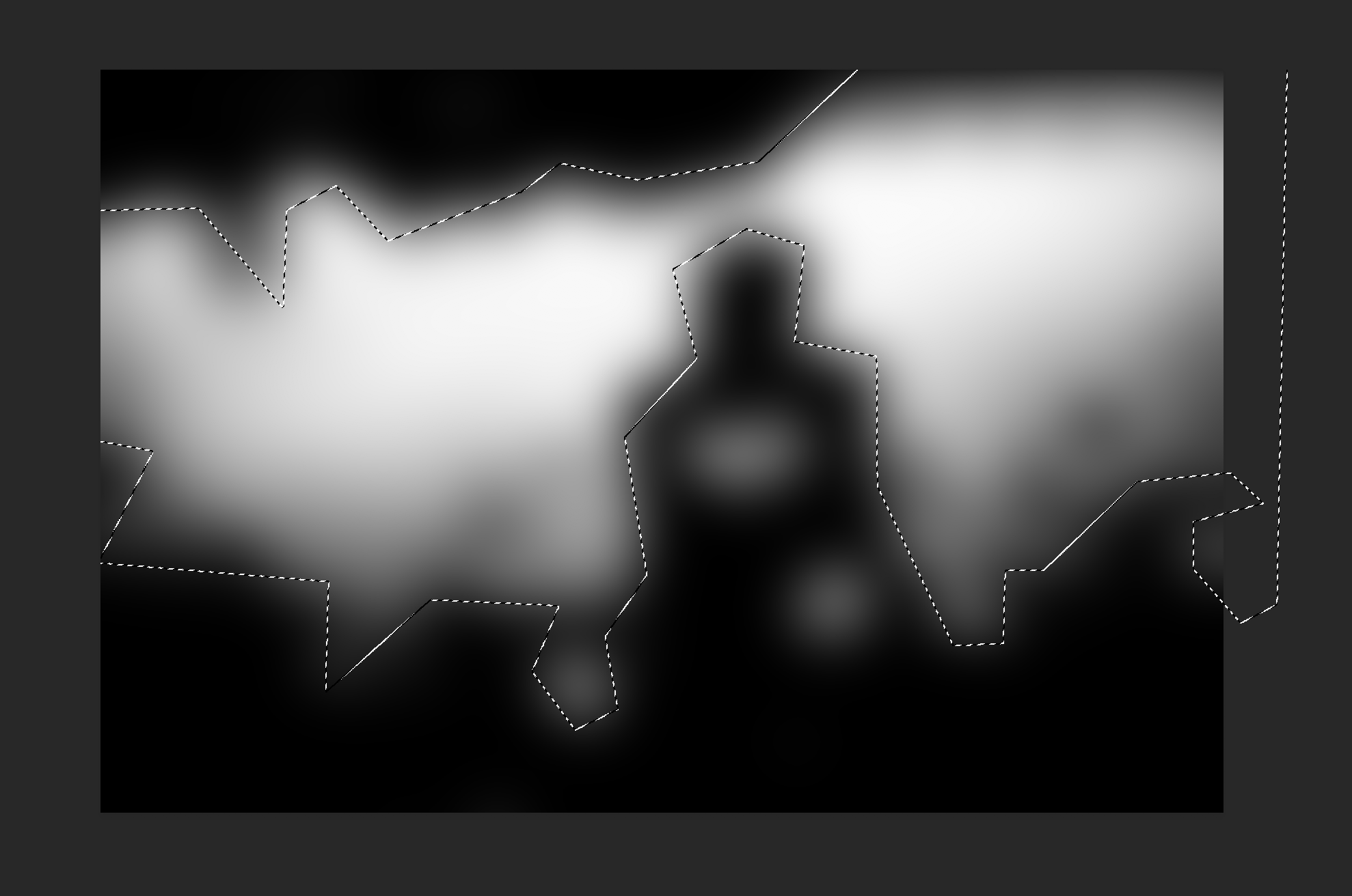 Using polygonal lasso tool in Photoshop, to select the white bits.
