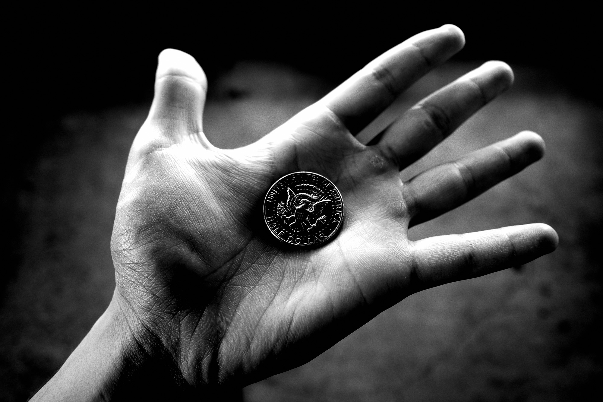 Hand coin