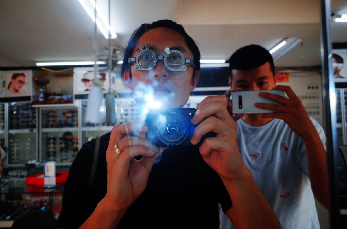 Selfie with my buddy Chu Viet Ha in Vietnam. Getting new glasses.