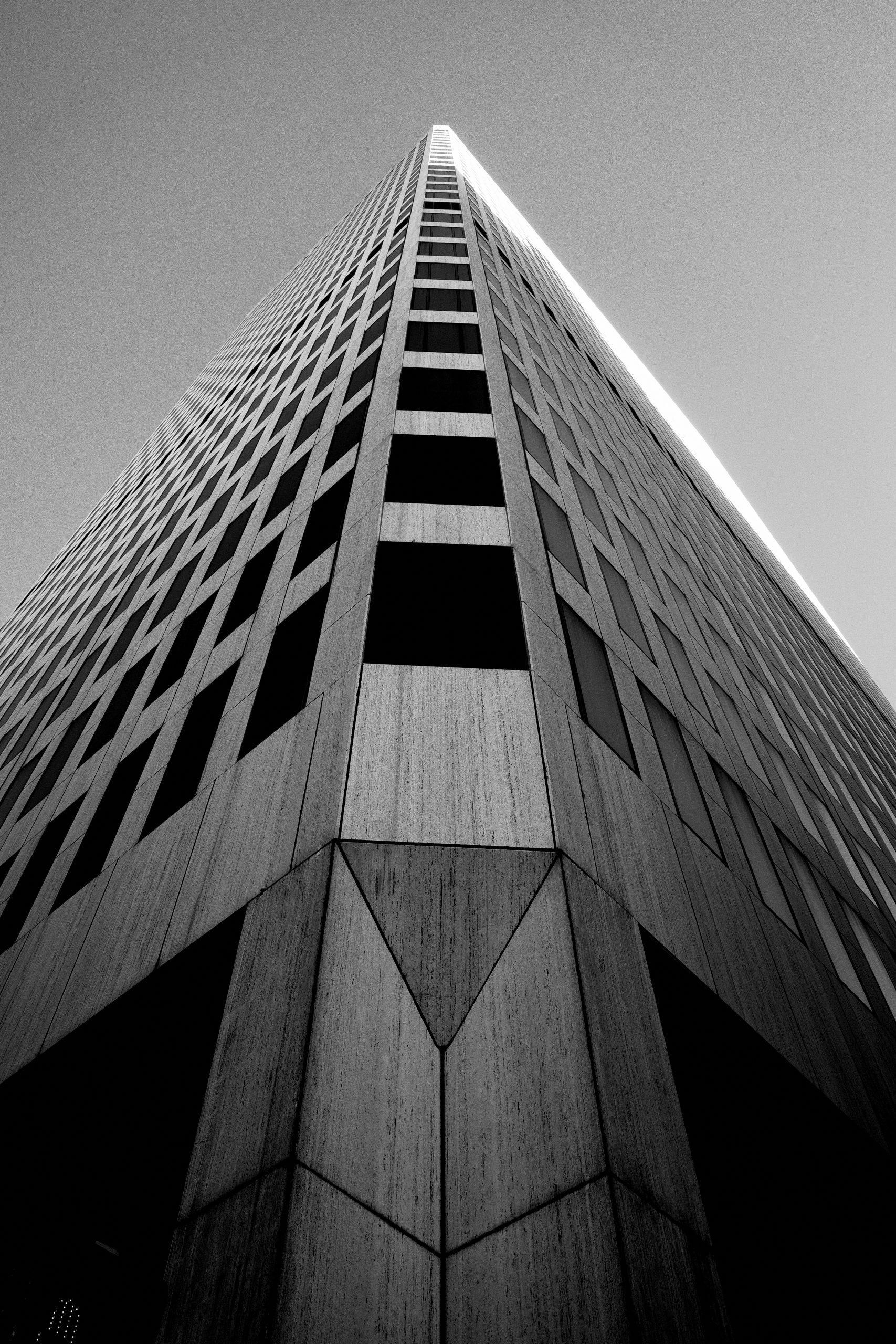 Architecture looking up