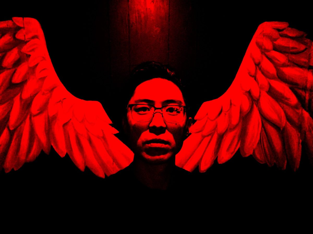 Red selfie wings Eric kim