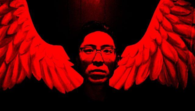 Red selfie wings Eric kim