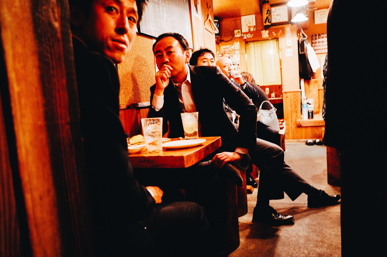 Layered Tokyo street photograph