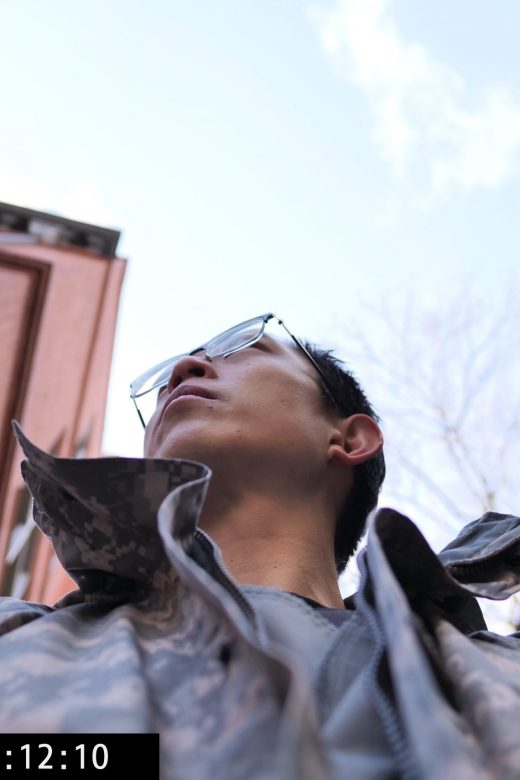 low angle Eric Kim superman