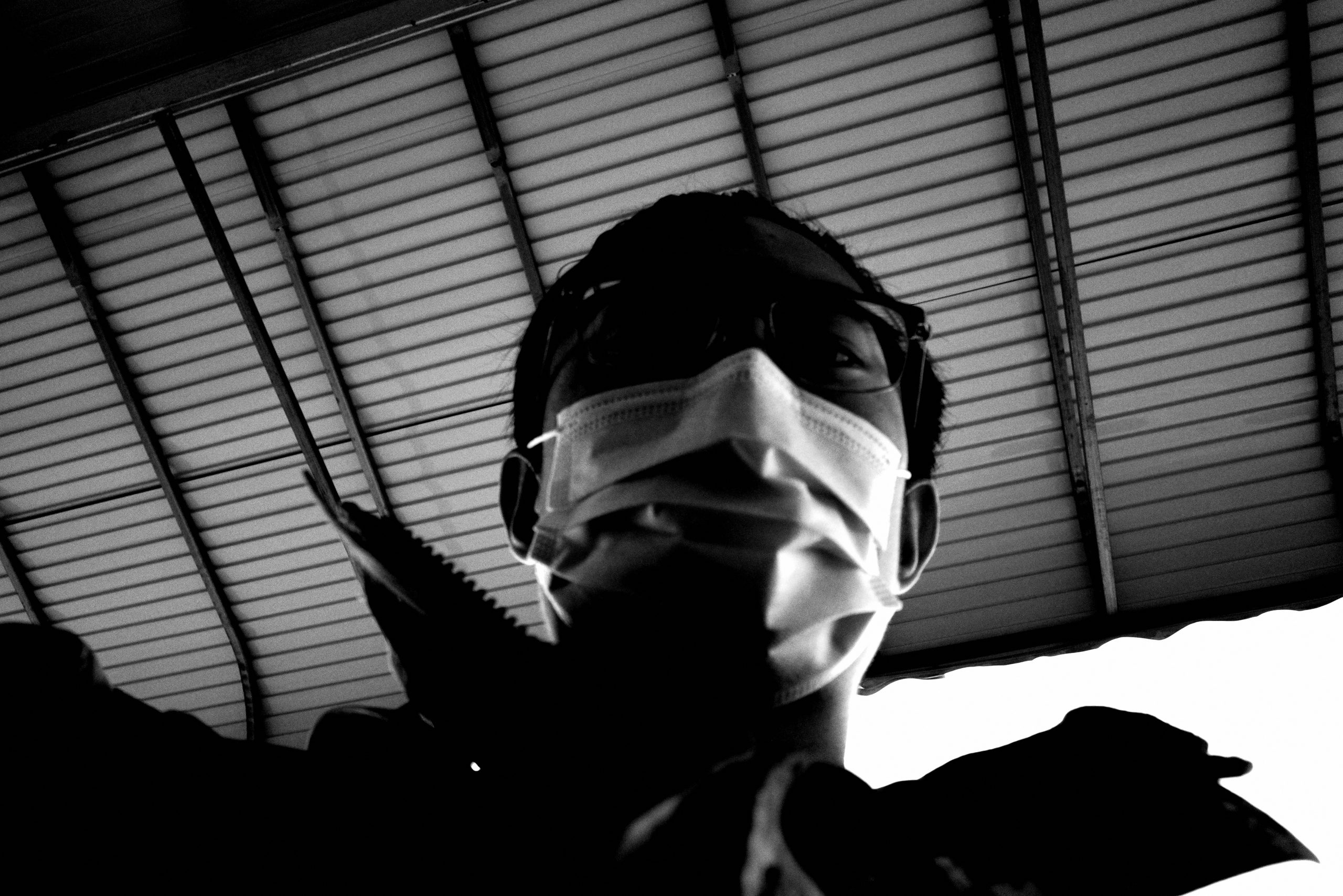 selfie mask ERIC KIM photography covid grocery store 00004
