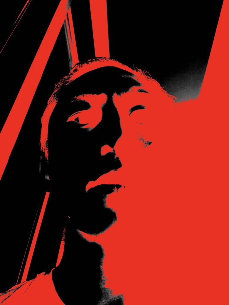 Red black eric selfie