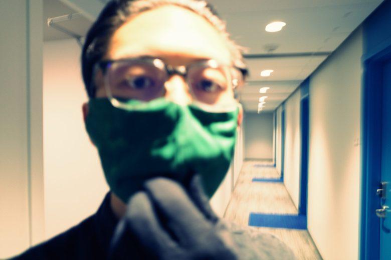face mask selfie ERIC KIM