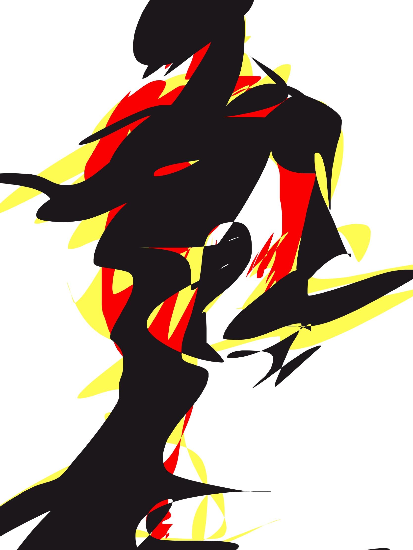 Red black yellow Hercules