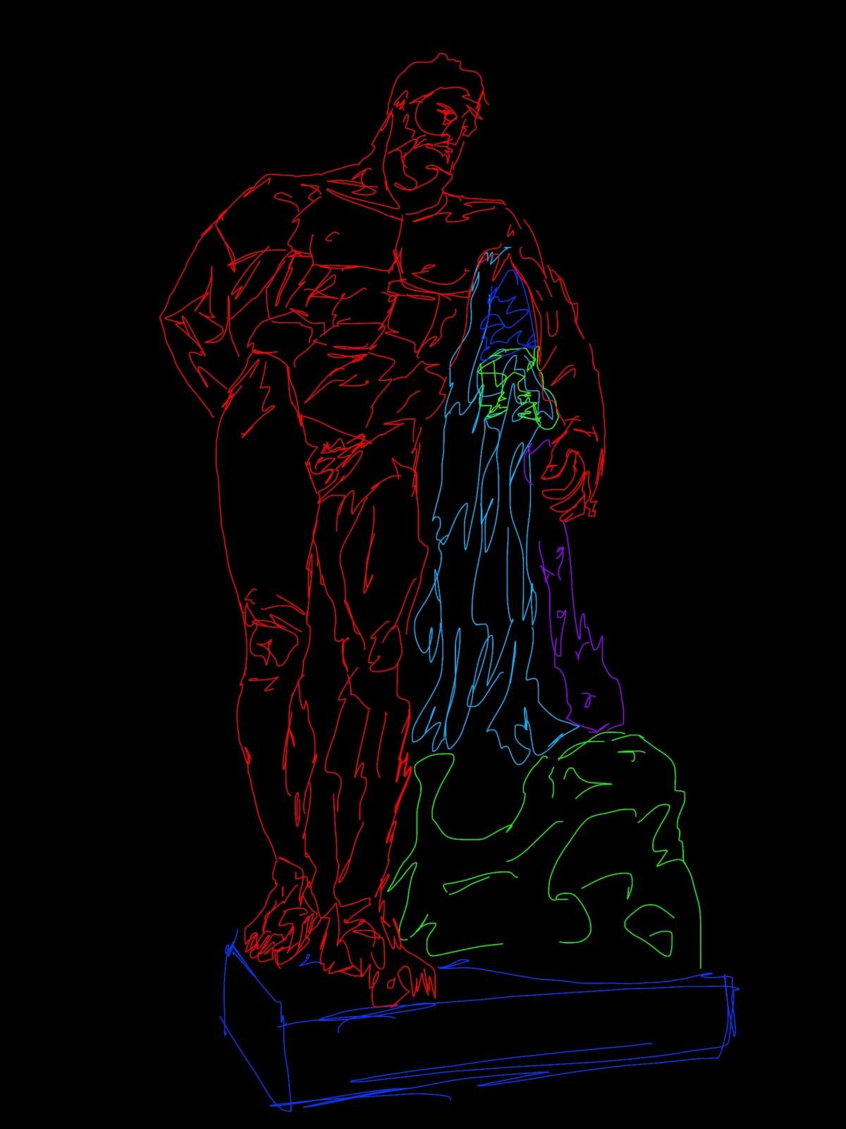 Hercules eric kim abstract