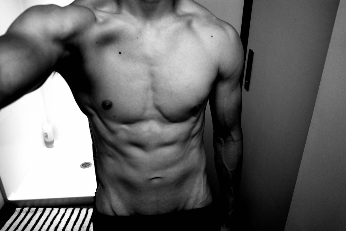selfie abs muscle ERIC KIM