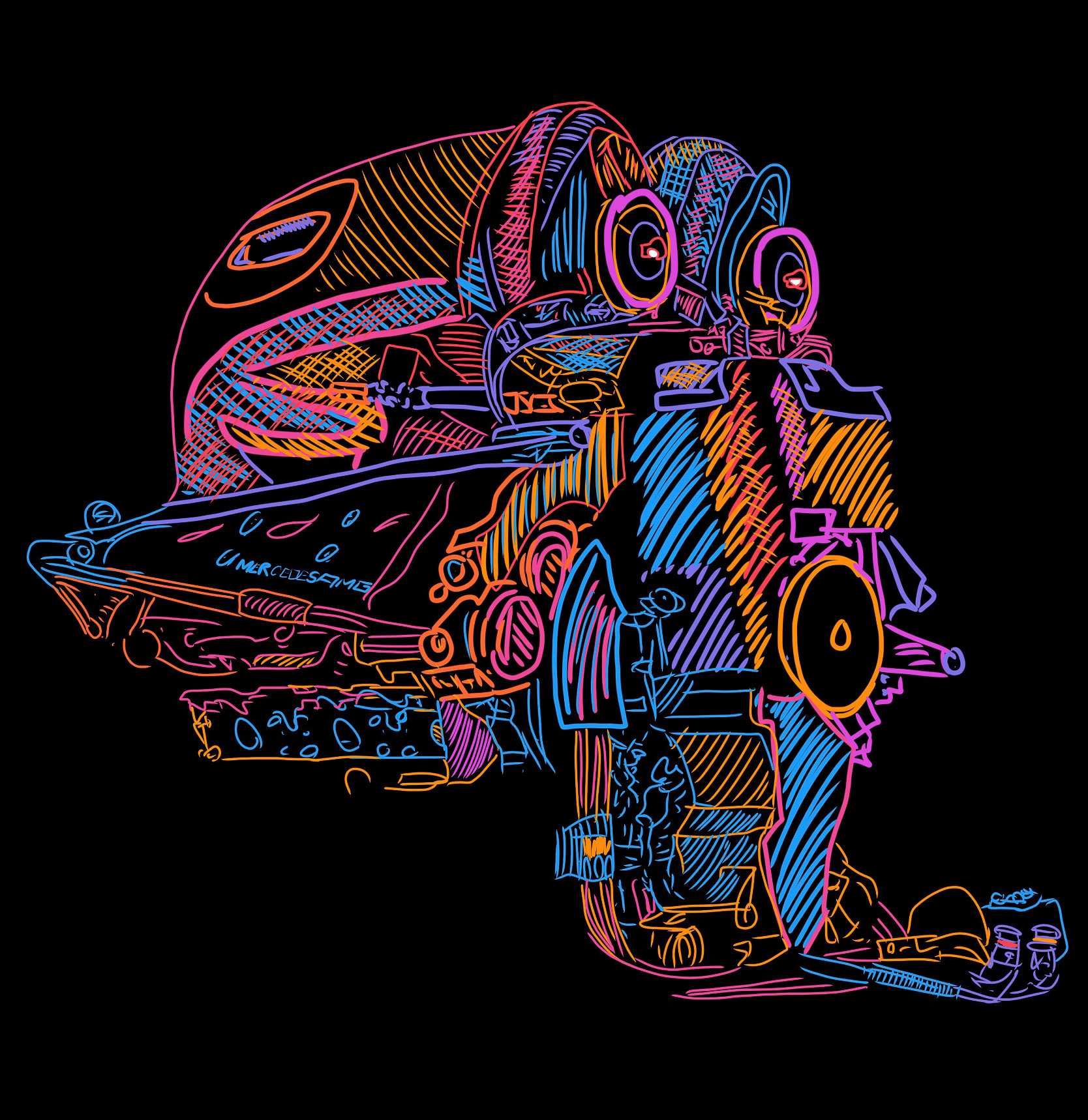 machine engine abstract