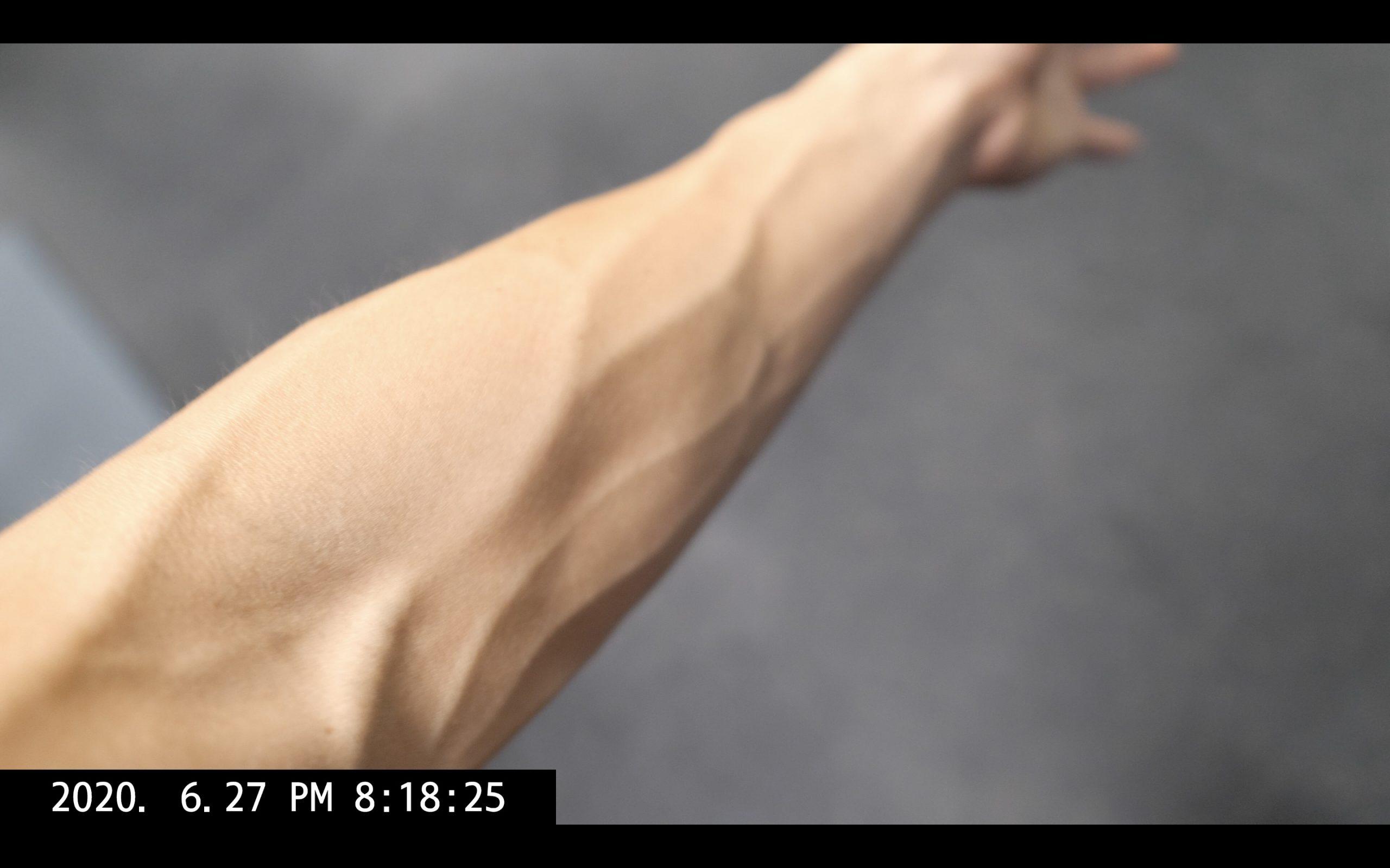 Eric Kim arm vein selfie