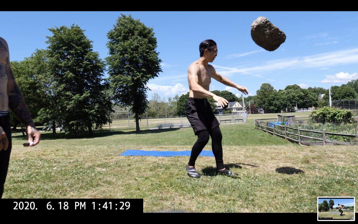rock toss air