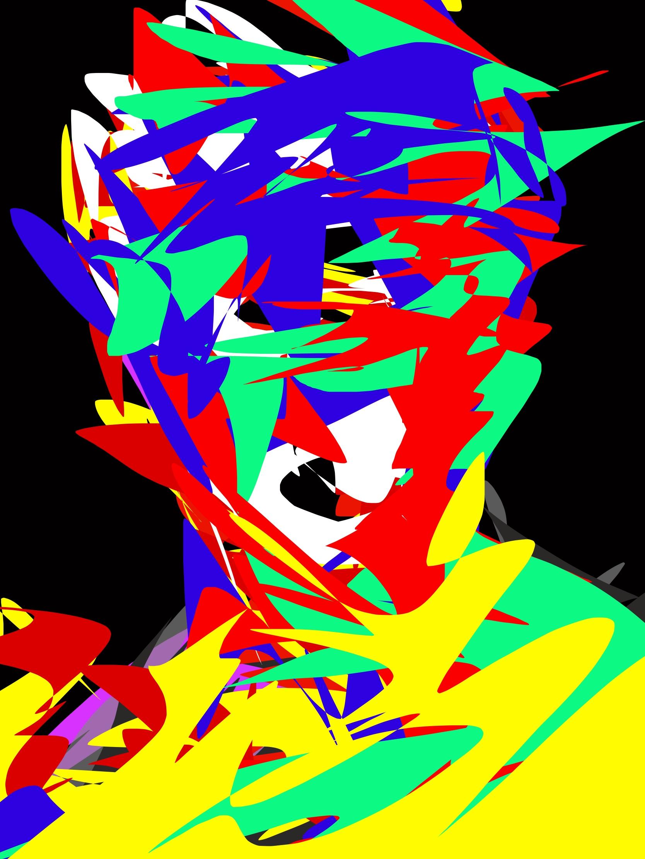 Davis face abstract