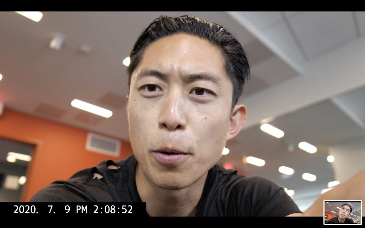 Talking ERIC KIM blog vlog selfie