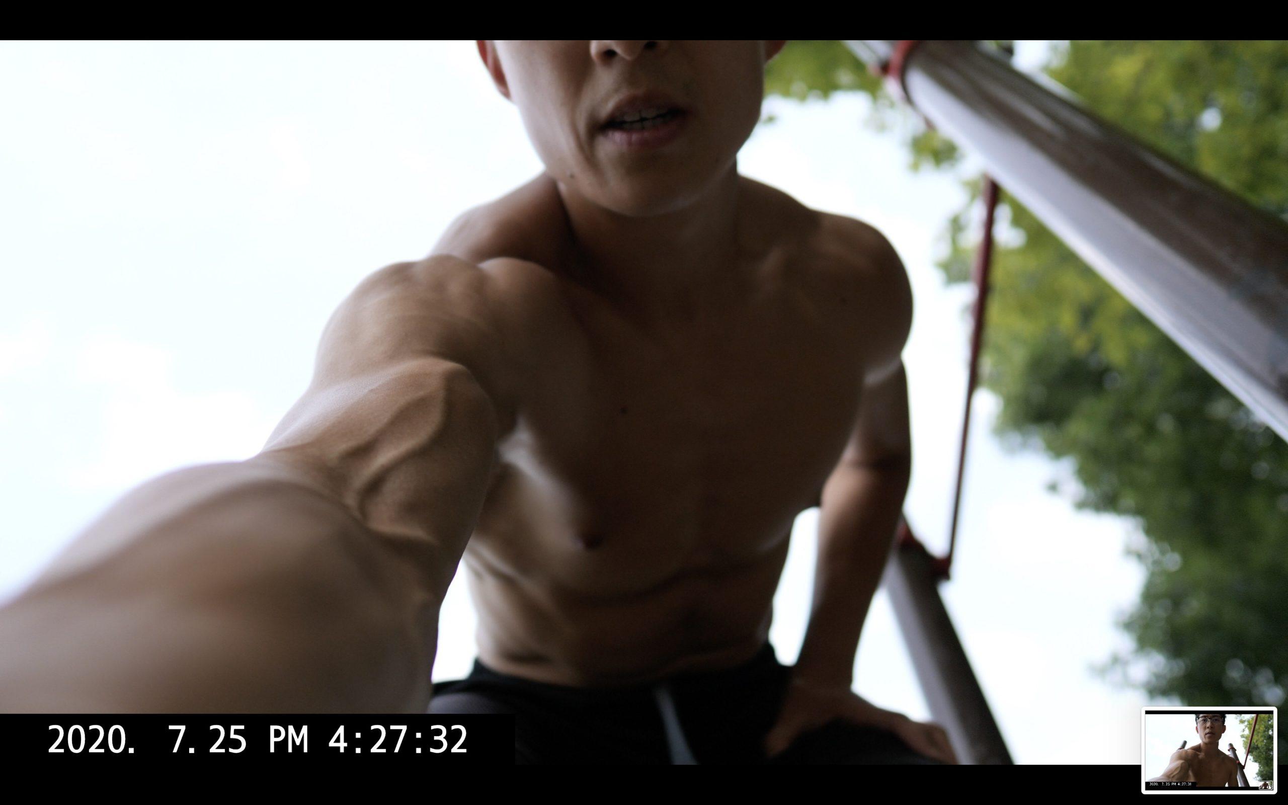 ERIC KIM selfie bicep