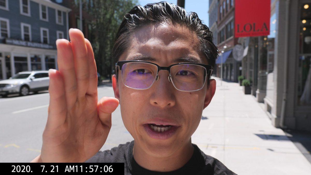 selfie ERIC KIM walking vlog