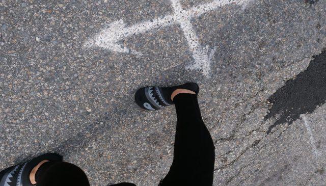 walking foot selfie ERIC KIM