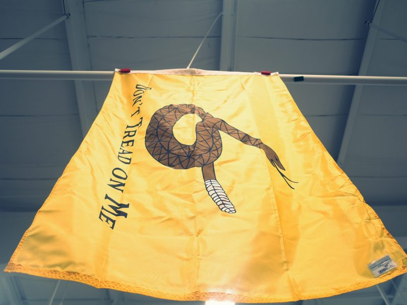 don't tread on me yellow flag