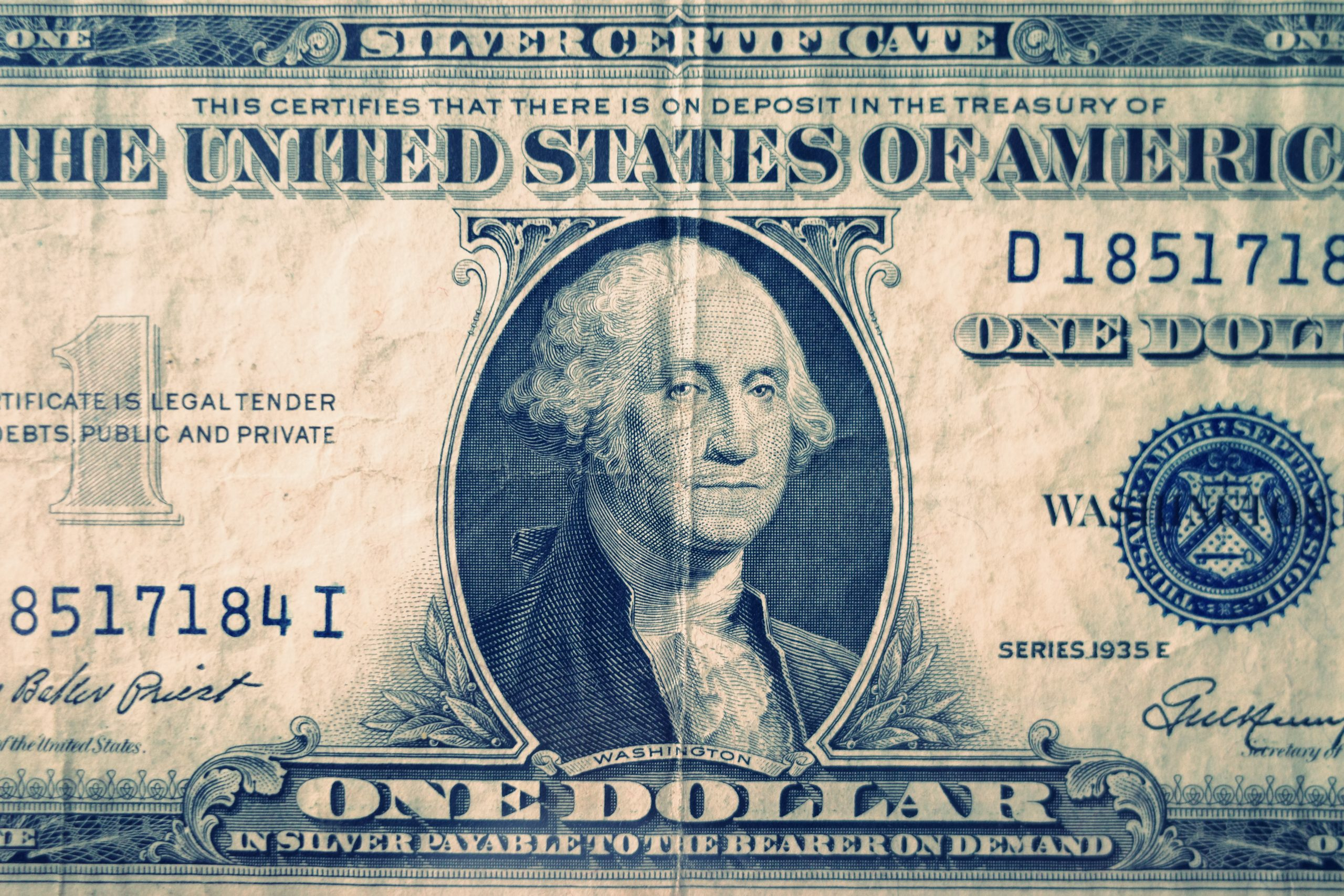 silver certificate US dollar
