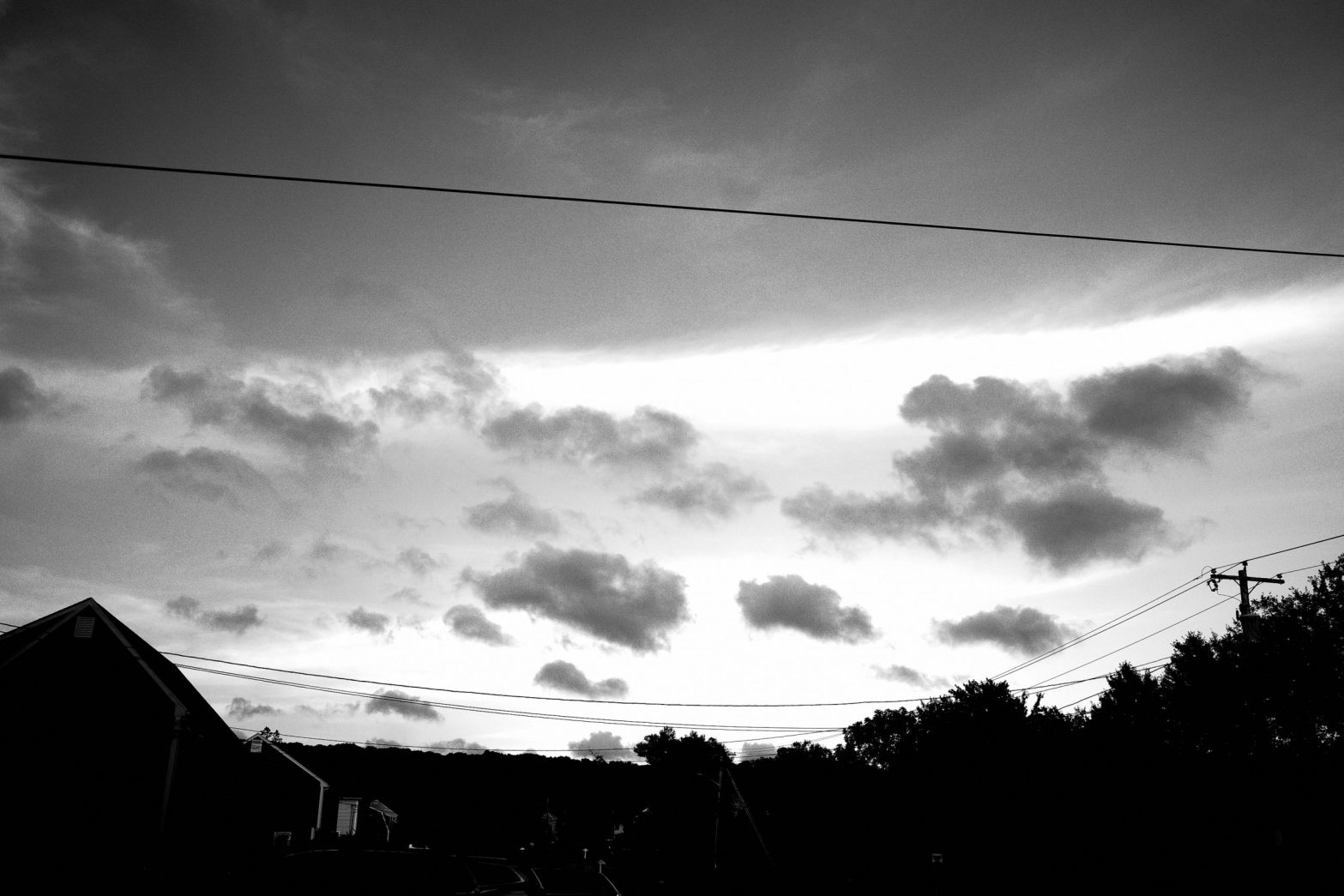 clouds black and white ERIC KIM twilight