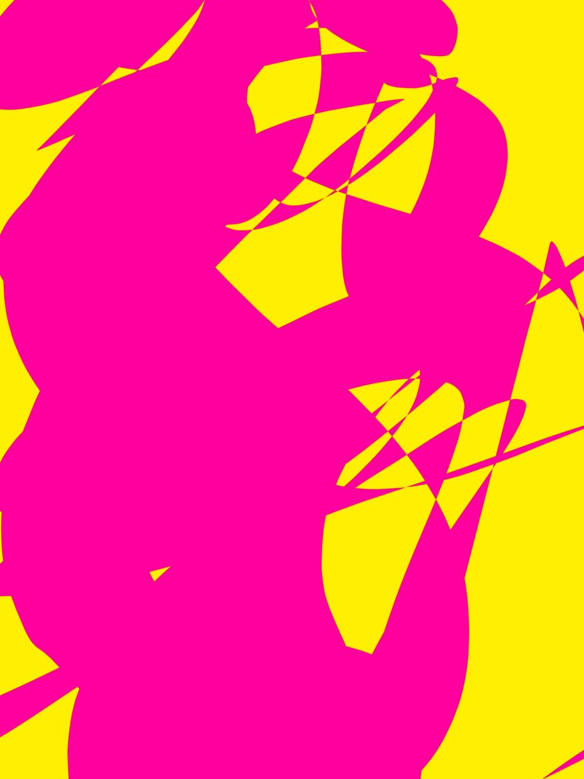 pink yellow abstract ERIC KIM