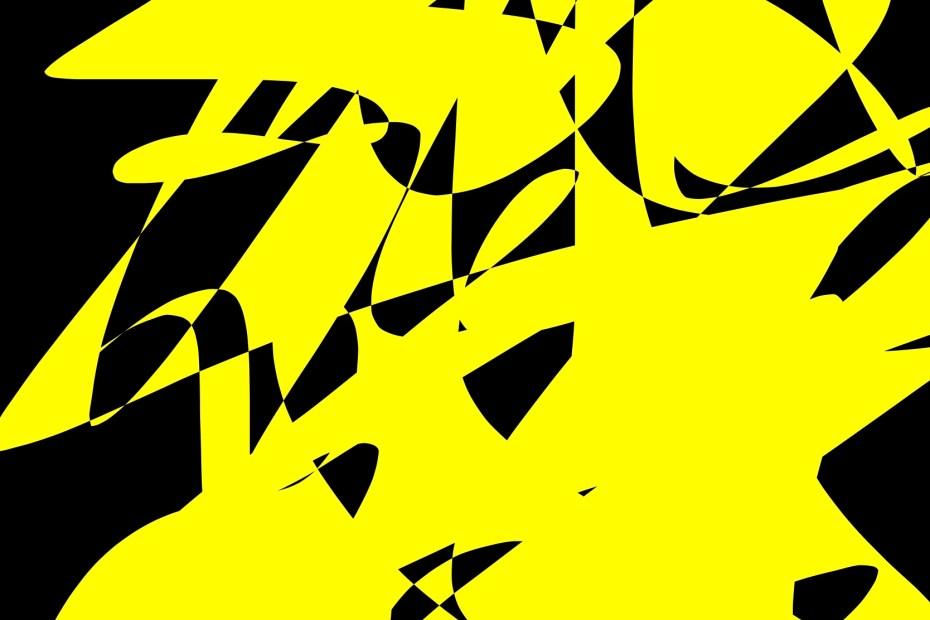 yellow black abstract