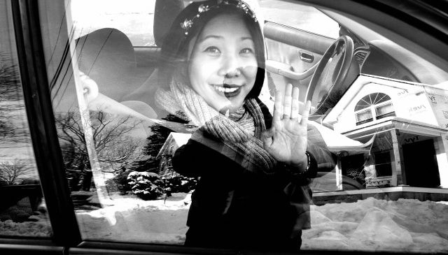 Cindy ERIC KIM reflection selfie car