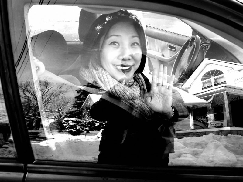 Cindy ERIC KIM reflection selfie car