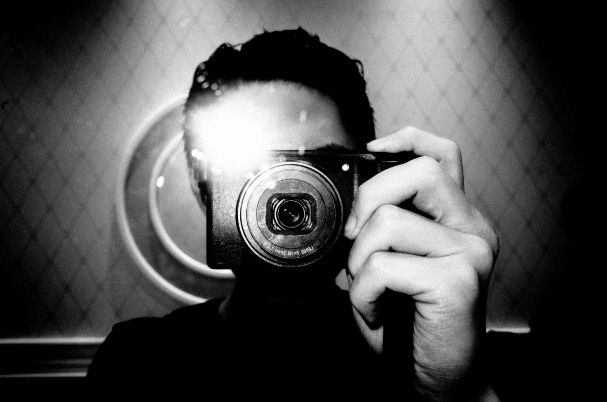 selfie black and white flash ERIC KIM