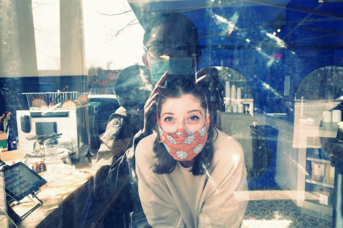 street photography reflection face mask providence Eric